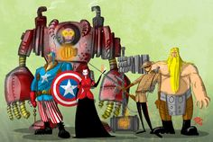 Steampunk Avengers by Mihajlo Dimitrovski