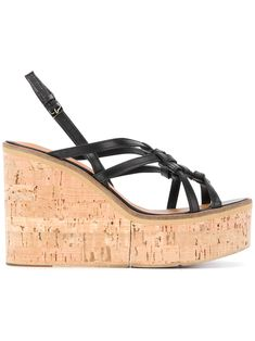2de6892f457 Clergerie Valia Woven Wedge Sandals - Farfetch