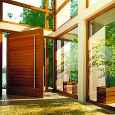Pivot Doors - contemporary - front doors - orange county - Fenstermann LLC-Newport Beach 23 Grandiose and Big Front Stunning Modern Front Door. Contemporary Front Doors, Modern Entrance, Modern Front Door, Front Door Design, Entrance Doors, Modern Entry, Main Entrance, Front Entry, Modern Contemporary