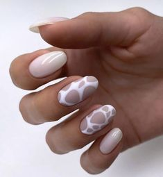 Casual Nails, Stylish Nails, Trendy Nails, Cow Nails, Aycrlic Nails, Hair And Nails, Winter Nails, Spring Nails, Nagellack Design