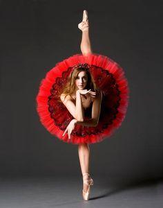 Red Tutu (plus amazing arabesque penche)   Dance Dance Dance ...