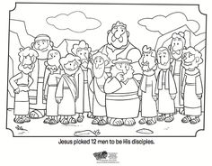 12 Disciples Coloring Page - Bible Coloring Pages | What's in the Bible?