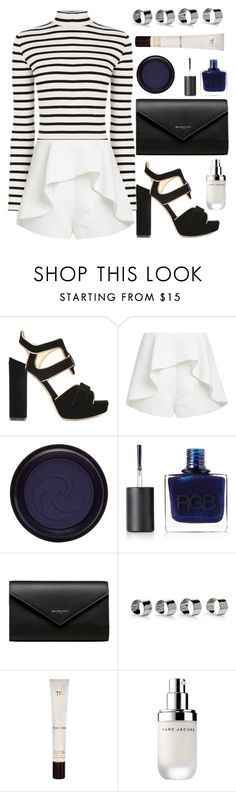 """""""navy"""" by jasmimestefany ❤ liked on Polyvore featuring Jerome C. Rousseau, Finders Keepers, RGB, Balenciaga, Maison Margiela, Tom Ford and Marc Jacobs"""