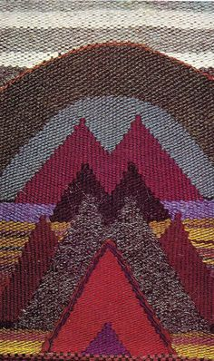 Joan Ward Summers, New Mountain, Old Montain, wool and camel hair
