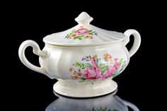 Sugar Bowl Edwin Knowles Semi Vitreous by MountainAireVintage