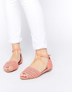 ASOS+JAMILA+Laser+Cut+Two+Part+Sandals