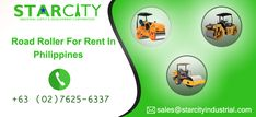 Starcity Industrial offers road roller for rent in Philippines. The purpose of this equipment is to flatten compact soil, gravel, concrete, and asphalt quickly. Heavy Equipment, Philippines, Compact, Concrete, Purpose, Industrial, Construction, Building, Industrial Music