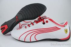 PUMA FUTURE CAT M1 SF TIFOSI WHITE/ROSSO CORSA RED/BLACK FERRARI F1 US MEN SIZES