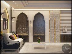 Luxury Arabic parametric office on Behance Indian Home Decor, Luxury Home Decor, Luxury Interior, Luxury Homes, Arabian Decor, Islamic Decor, Moroccan Interiors, Moroccan Design, Interior Exterior