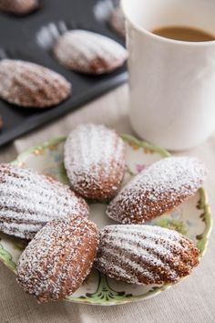 Recipe: Hot Cocoa Madeleines — Recipes from The Kitchn Tea Cakes, Cupcakes, Cookie Recipes, Dessert Recipes, Cocoa Recipes, Thm Recipes, Chocolate Recipes, Madeleine Recipe, Biscotti