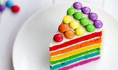 Make a delicious chocolate fridge cake with this easy recipe, perfect for everyday baking and occasions. Find more cake recipes at BBC Good Food. Food Cakes, Rainbow Layer Cakes, Cake Rainbow, Rainbow Sprinkles, Rainbow Birthday, Lemon Drizzle Cake, Sugar Icing, Bbc Good Food Recipes, Food Shows