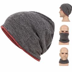 e5157abf53f Scarf Face Mask for Hiking. Buy Beanie for Men Baggy Skull Cap Slouchy Winter  Warm Hat Reversible Knit Ski Headgear ...