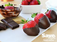 To ensure your chocolate-covered strawberries turn out smooth and satiny, follow these easy tips: http://bit.ly/1y60Yg8  #valentinesday #savealot