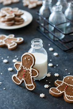 Gingerbread Cookies Recipe {Paleo, Gluten Free, Clean Eating, Dairy Free, Vegan}- you'll love the almond flour taste in these cookies.