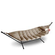 Fatboy® headdemock sunbrella incl. rack & pillow, nature grey Fatboy Headdemock, Hammock, Couch, Pillows, Grey, Nature, Furniture, Home Decor, Gray