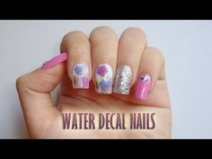 Water Decal Nails (Mix and Match) Nail Tutorials, Nail Tech, Mix N Match, My Nails, Decals, Nail Art, Water, Check, Color