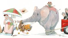 Site personnel de Quentin Gréban - Edition Mijade Watercolor Illustration Children, Elephant Illustration, Children's Book Illustration, Drawing Sketches, Art Drawings, Typography Prints, Beautiful Paintings, Childrens Books, Book Art