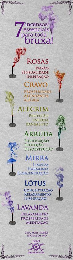 7 incensos essenciais para toda bruxa