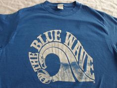 Vintage Seattle Seahawks The Blue Wave T-Shirt XL Made in USA Small Medium 80s #SeattleSeahawks