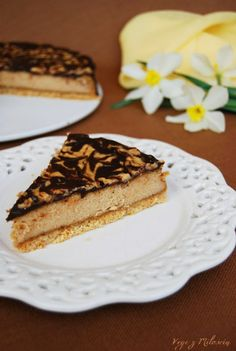 Tofu cheesecake with peanut butter