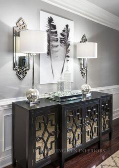 Foyer decorating – Home Decor Decorating Ideas Hallway Decorating, Entryway Decor, Dining Room Design, Interior Design Living Room, Home Living Room, Living Room Decor, Flur Design, Home Accessories, Diy Home Decor