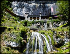 Beatushöhlen Switzerland, Canon, Waterfall, Places, Travel, Outdoor, Photos, Road Trip Destinations, Nice Asses