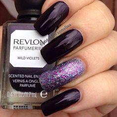 Nails - vixen purple and glitter