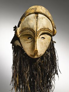 Africa | Fang Mask, Gabon. | Prior to 1980.  | Fang sculpture has long been one of the most admired and sought after genres of African art. In the early 20th century it famously provided inspiration to the avant-garde artists in the circle of Pablo Picasso and Georges Braque with its highly-stylized, cubist forms.