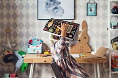 shared bedroom - brother sister - rearranging the room for a new school year - www.ladnebebe.pl