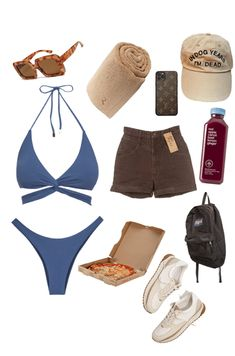 choocho Outfit | ShopLook Beach Day Outfits, Trendy Summer Outfits, Surfer Outfit, Banks, Teen Fashion Outfits, Classic Outfits, Script, Tent, Clothes