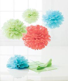 Modern Festive Pom-Pom Craft Kit » Pretty colors!
