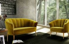 Top 15 colored velvet sofas | Modern sofas. Living room ideas. Velvet sofa. | #Modernsofa #velvetsofa #designersofa #yellowsofa | Read more: http://modernsofas.eu/2016/03/01/top-10-colored-velvet-sofas/
