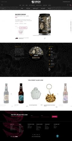 Siren Craft Brew is a modern brewery based in Berkshire, brewing a range of craft beers and recently winning Supreme Champion Beer of Britain. Craft Beer Fest, Food Web Design, Craft Beer Labels, Web Design Agency, Layout, Site Internet, Web Design Inspiration, Brewery, Website