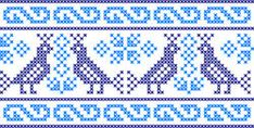 Imágenes similares, fotos y vectores de stock sobre Embroidered Birds; 516367333 | Shutterstock Cross Stitch Charts, Cross Stitch Patterns, Mexican Pattern, Boarder Designs, Vintage Cross Stitches, Mittens, Crochet Projects, Stencils, Knit Crochet