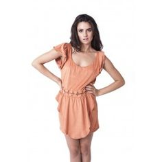 Backless two piece dress by Ladakh, laced together at the waist.   Model wears size M.