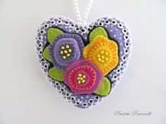 modern heart felt ornament