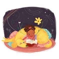 Noche de cuentos compartidos (ilustración de Lindsay Dale-Scott)