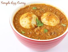 Egg curry recipe - collection of easy spicy egg curry recipes in punjabi style, south Indian style, restaurant style - serve with rice ,bread, chapathi curry South Indian egg curry Spicy Egg Curry Recipe, Indian Egg Curry Recipe, Curry Recipes, Egg Recipes, Indian Food Recipes, Cooking Recipes, Ethnic Recipes, Egg Masala, Veg Curry