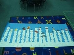 Snowball names for Math - graph and compare letters in each child's name