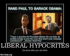 OBAMA CARTOONS: Conservative Political Humor: Rand Paul to Barack on Liberal Hypocrites