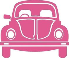 VW Pink Beetle Car Cross Stitch Chart in Crafts > Cross Stitch > Cross Stitch Patterns Silhouette Cameo Projects, Silhouette Design, Car Silhouette, Pink Beetle, Beetle Car, Vw Vintage, Silhouette Portrait, Vw Beetles, Vinyl Projects
