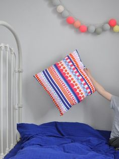 Tove Johansson - Hello  Love the colours, the pillow... and the unexpected photo composition