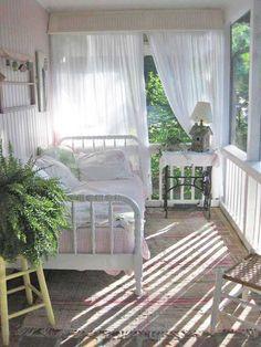 Cozy cottage sleeping porch