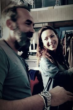 "Katerina Manolaraki and Grigoris getting ready for today show at ""Eleni"", Alpha Tv"