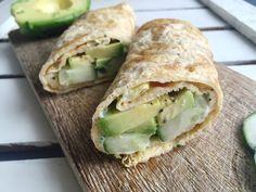 Omeletroll met avocado en heksenkaas