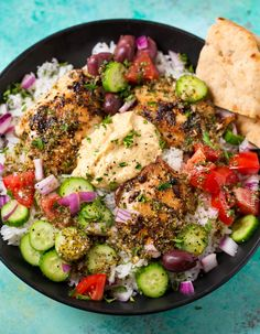 Hearty Greek Chicken and Rice Bowl