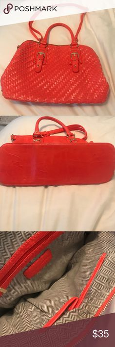STEVE MADDEN - braided/coral purse - NWOT Never Carried.   ✔ Clean ✔Smoke Free Home ✖TRADES ✖PAYPAL Steve Madden Bags Satchels