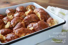 overnight #challah French toast #casserole | CherylStyle.com