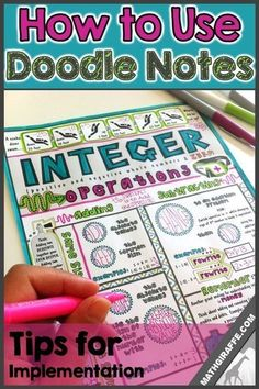 "Not only are doodle notes based on brain research, but they are loved by students and teachers! After getting input from hundreds of teachers, I've seen lots of: ""really liked how students responded! Math Tutor, Math Teacher, Math Classroom, Teaching Math, Math Education, Classroom Ideas, Teaching Ideas, Student Learning, Teacher Stuff"