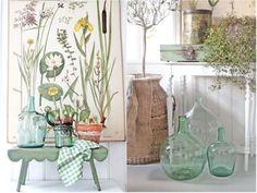Las damajuanas están de moda. Ideales para conseguir una auténtica #decoracion #natural